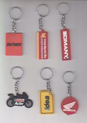 Red Silicone Rubber Keychain