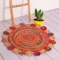 Round Jut Carpet Rug Mat