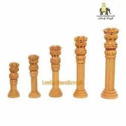 Decorative Wooden Ashoka Pillar