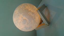 14cm 3D Printed Moon Lamp