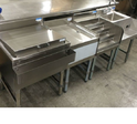 Cocktail Station With Sink Unit, Size: 750x650x800+100