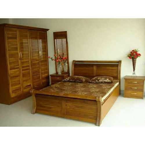 Teak Wood Bedroom Set, Rs 101000 /piece, Teak Wood Furniture | ID ...