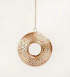Moroccan Iron Hanging Lantern Tyre Design, Battery Type: Non-Rechargable, Size: 10  Dia