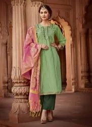 Party Wear New Kurtis With Fancy Dupatta