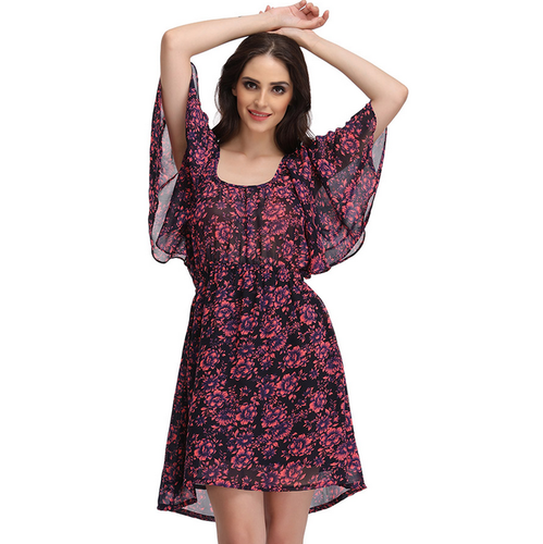 d1e35c03731 Georgette Printed Clovia Floral Print Beach Dress, Rs 999 /piece ...