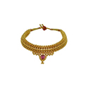 Festival Traditional Fancy Broad Thushi Necklace