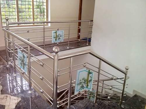 Stainless Steel Glass Railing Design Balcony At Rs 450 Square Feet