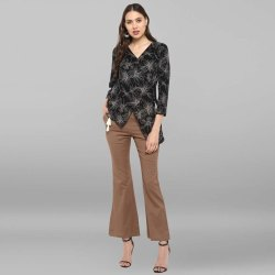 Black Rayon Top With Trouser(SET127)