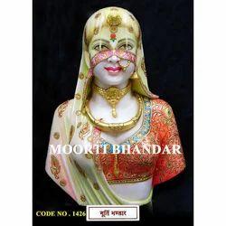Handicraft White Makrana Marble Statue