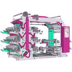 Flexographic Printing Machine With Sheet Cutting Machine