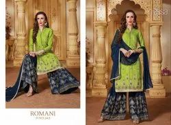 Nyssa Embroidered Sharara Suit