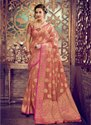 Peach Kesari Exports Designer Wedding Silk Sarees With Blouse
