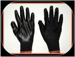 PU Palm Coated Gloves Black Midas Make
