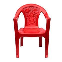 Plastic Red Cello Chairs
