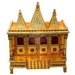 Wooden Temple With Metal Work