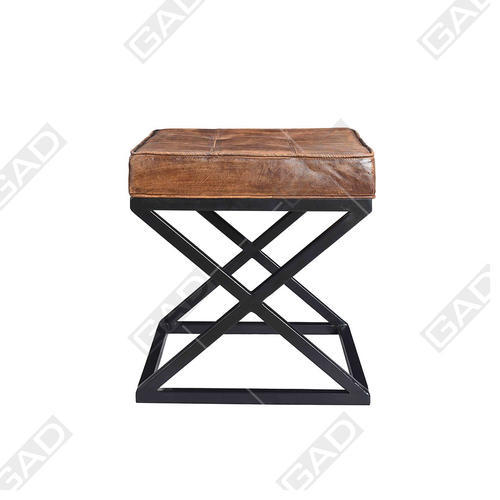 iron industrial furniture. Leather Top Iron Stool - Industrial Furniture Iron Industrial Furniture