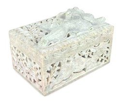 Hand-Carved Rectangle Shaped Jewelry Box