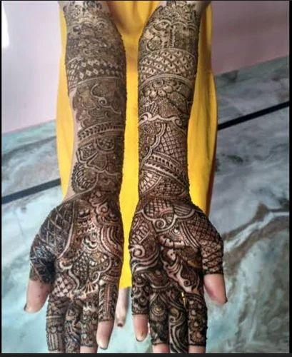 heavy bridal mehndi designs