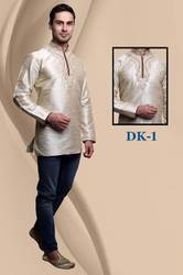 Men Embroidered Short Kurti