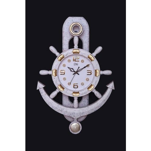 Oyo Plastic 600x420 Mm Antique Anchor Wall Clock, Model Name/Number: A11