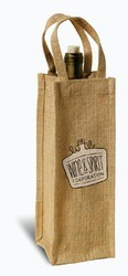 Loop Handle Jute Bottle Bag