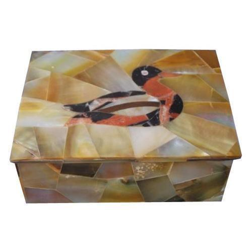 White Jagdamba Marble Handicraft. Stone Boxes