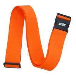 Luggage Strap Fully Adjustable Packing Belt For Suitcases And Travel Luggage 200cm x 5cm - Orange