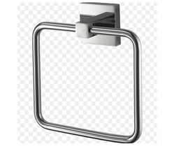 Silver Stainless Steel Towel Ring