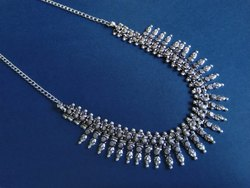 Silver Designer Necklace For Ladies