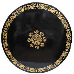 Beautiful Home Decor Black Marble Inlay Work Table Top
