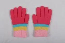 Pink Woolen Hand Gloves
