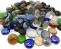 Glass Gems Pebbles Transparent