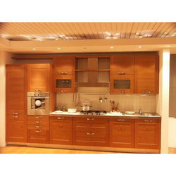 Wooden and MDF Kitchen Cabinet