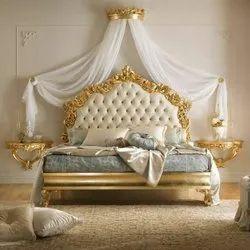 Hand Made Oak Wood Designer bedroom furniture, For Home, Size: Queen