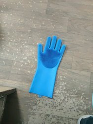 Silicom Glvoes Silicone Cleaning Gloves, Design/Pattern: With Brithles
