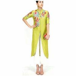 Chanderi Silk Regular Ladies Palazzo Suit, Size: S-XL