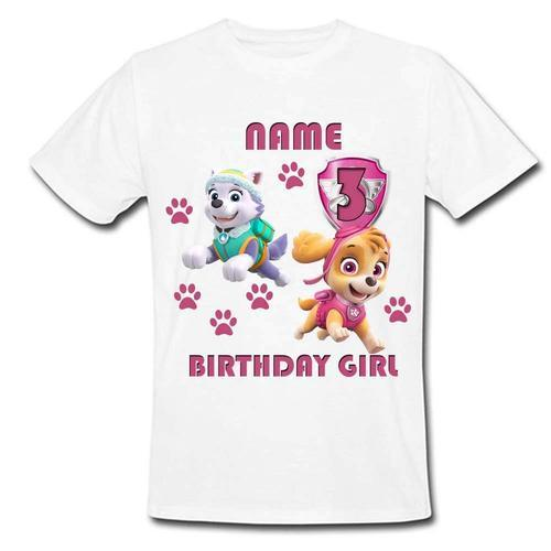 b701c0953 White Polyester Sprinklecart Ideal Paw Patrol Birthday T Shirt, Rs ...