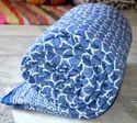 Cotton Indigo Kantha Quilt