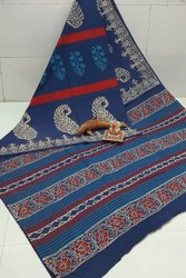 Exclusive Bagru Hand Block Printed Cotton Saree.
