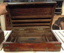 Antique Wooden Briefcase