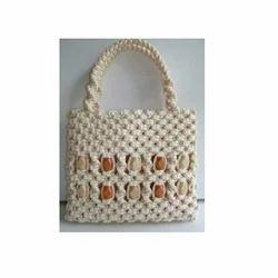 Cotton Beaded Bag