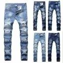 Mens Slim Fit Ripped Jeans