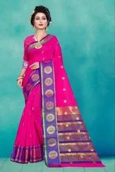 Indian Ladies Wear Cotton Silk Saree