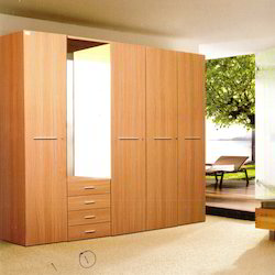 Steel Wardrobe with Wooden Shutter