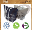 Indian Factory Cheap Twisted Rope Handle Custom Design Jute Beach Tote Bag