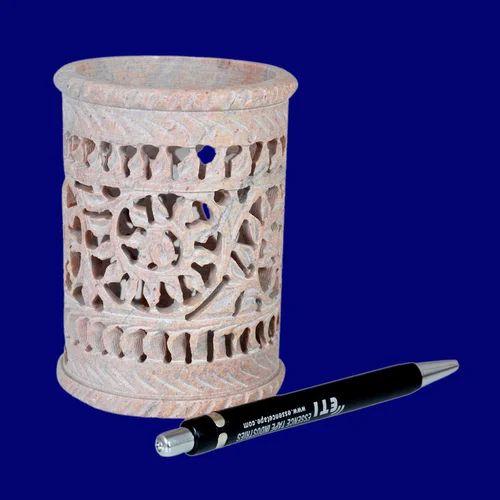 Jagdamba Marble Handicraft Soapstone Pen Holder