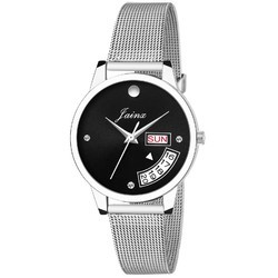 Women Black Dial Day & Date Wrist Watch