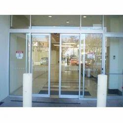 Partition Doors Grey Sliding Glass Door, For Office, Exterior