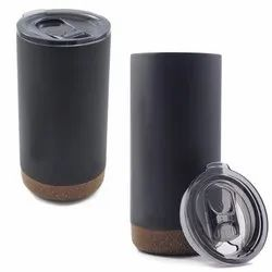 Hooke - Double Wall Stainless Steel Mug with Cork Coaster