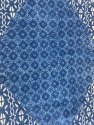 Indigo Print Cotton Rugs Traditional Carpet